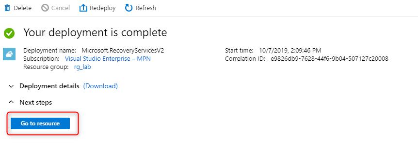 Configure Microsoft Azure Backup for VMs