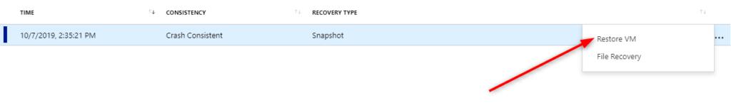 Microsoft Azure Backup for VMs Backup - Restore