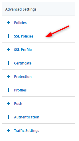 Citrix ADC create SSL Profiles