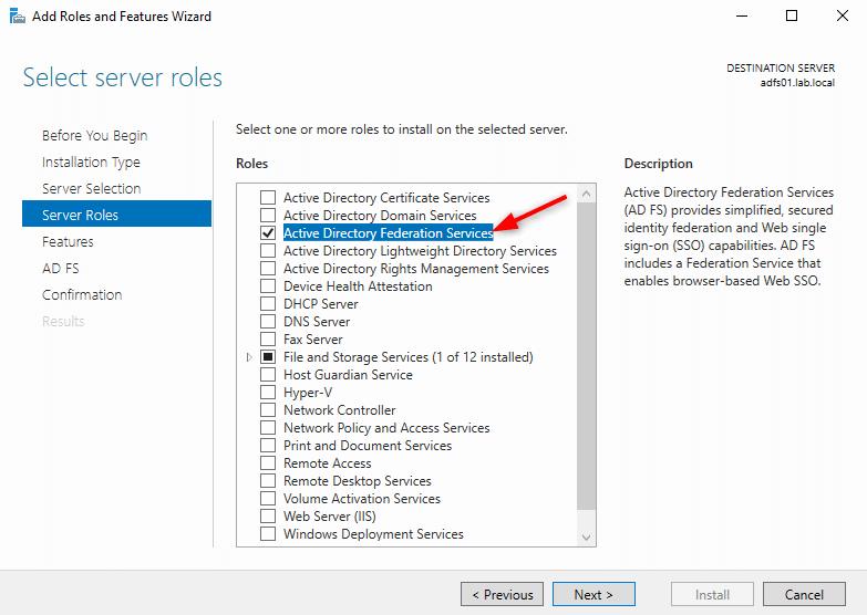 Setup Microsoft Active Directory Federation Services
