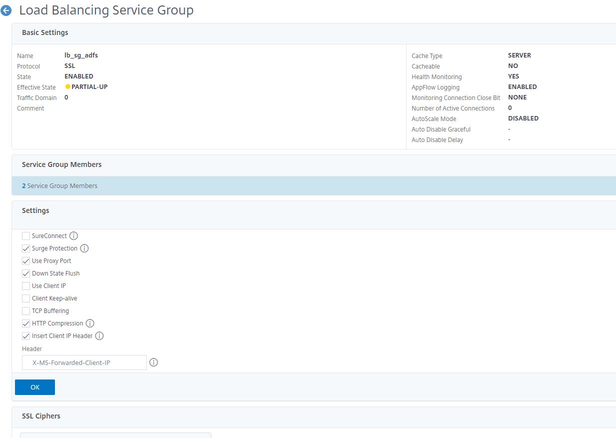 Citrix ADC ADFS Loadbalancing