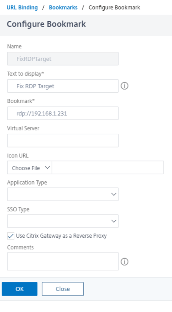 Citrix ADC as RDP Proxy - Fix RDP