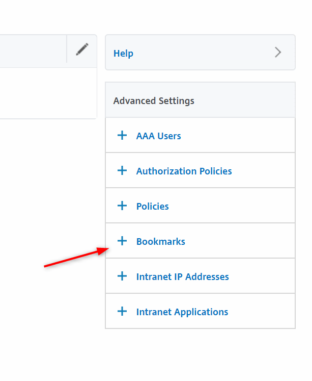 Citrix ADC as RDS Gateway - Assign Bookmark to users