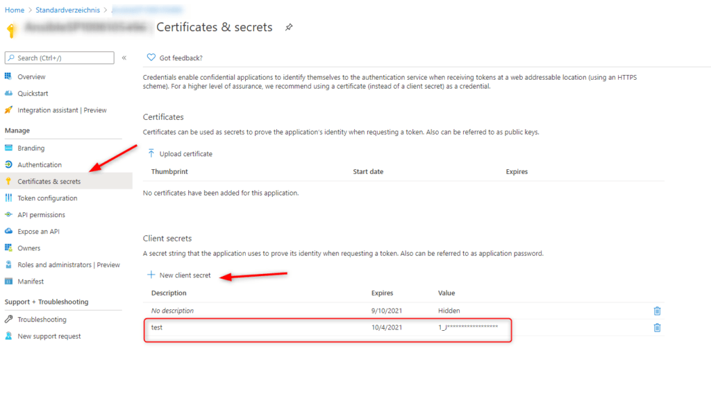 Certify Azure DNS Settings