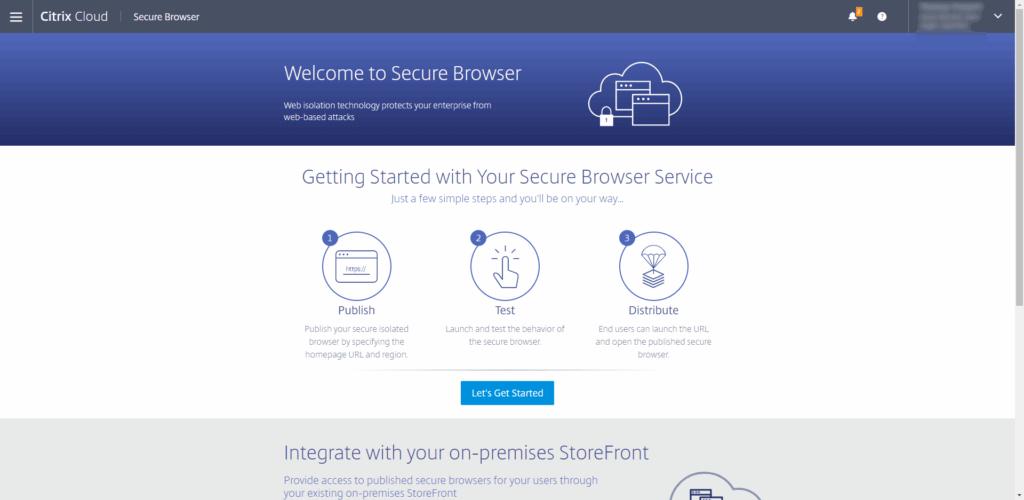 Citrix Secure Browser first steps