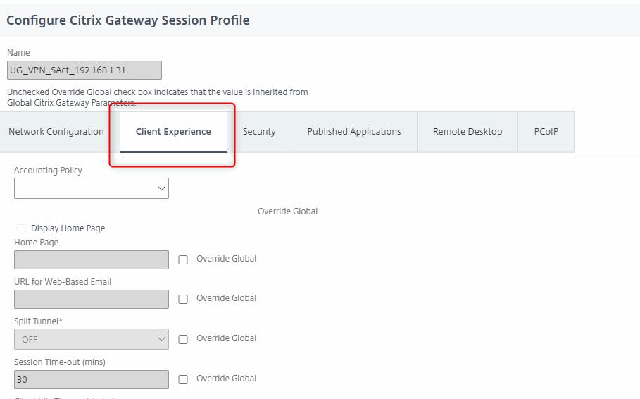 Always-On VPN - Citrix ADC